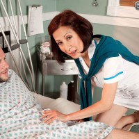 Over 60 Asian MILF Kim Anh gives hospital patient a handjob and blowjob