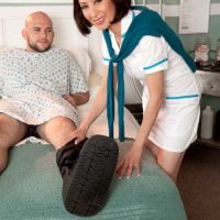 Over Sixty Nurse Kim Anh Sucks & Fucks The Cock