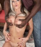 Busty sixty plus X-rated starlet Sally D'Angelo gets fucked by a junior black dude