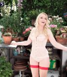 Blonde grandma Robin Pachino entices a man with a big black dick while in the outdoors