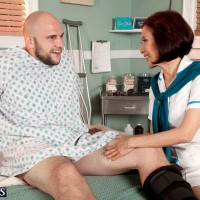 Over 60 Asian nurse Kim Anh seduces a younger man in his hospital bed
