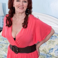 Naughty 60+ grandmother Katherine Merlot banged by black and white dick
