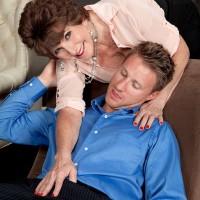Hot 60+ pornstar Bea Cummins seduces man half her age for sex session