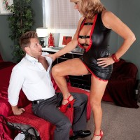 Sexy granny over 60 Phoenix Skye dominating younger man for sex