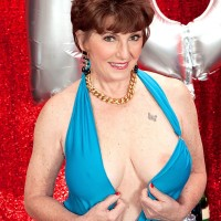 Mature pornstar Bea Cummins fucks up a storm for 70th birthday