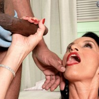 Big-titted black-haired grandmother Rita Daniels having butt ass-plug tucked in nasty bulls eye