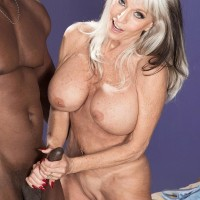 Busty 60 plus pornstar Sally D'Angelo gets banged by a younger black stud
