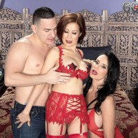 Mind-blowing old women Rita Daniels and Kim Anh have a threesome with junior lad