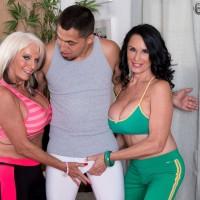 Older dames Sally D'Angelo & Rita Daniels Share A Cock