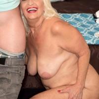 Plump Sixty plus MILF Vikki Vaughn revealing plus sized elderly broad ass and humungous juggs